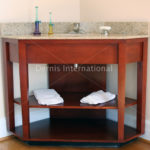 Hampton Inn Trad. Corner Vanity Base