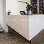 Quartz Desk with waterfall legs
